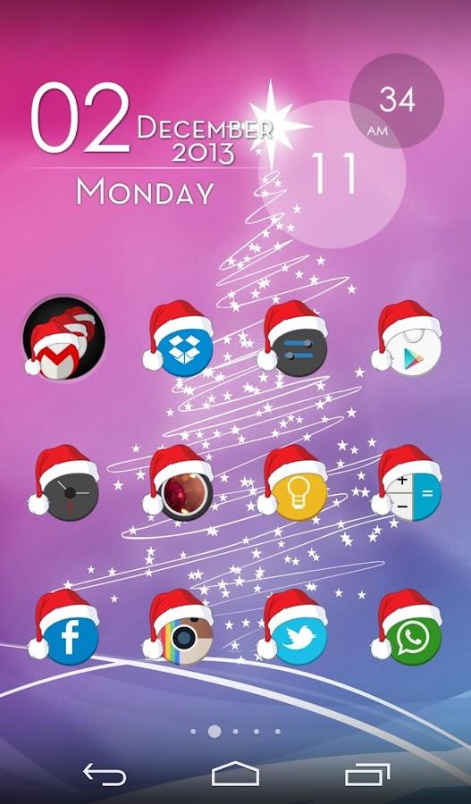 Xmas Cyrcle Icons Apex Nova - screenshot