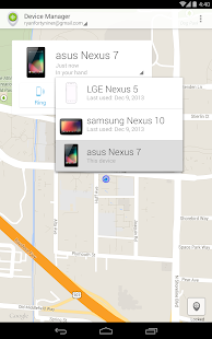 Android Device Manager- screenshot thumbnail