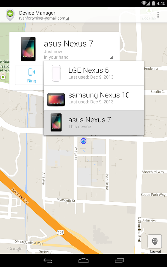 Android Device Manager- screenshot