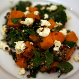 Spiced Butternut Squash, Lentil, and Goat Cheese Salad
