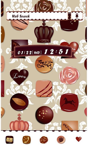 Cute Wallpaper Chocolate Love 1.0 Windows u7528 1
