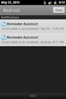 Screenshot of Reminder Assitant Free