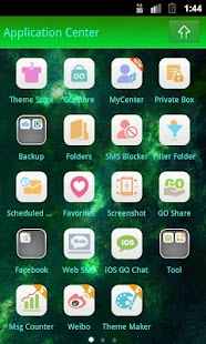 GO SMS PRO Planets theme- screenshot thumbnail