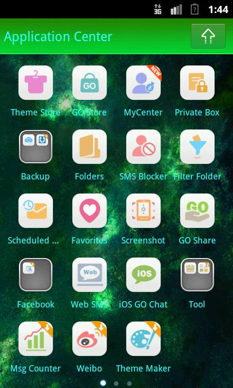 GO SMS PRO Planets theme- screenshot