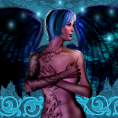 Tattooed Angel Live Wallpaper