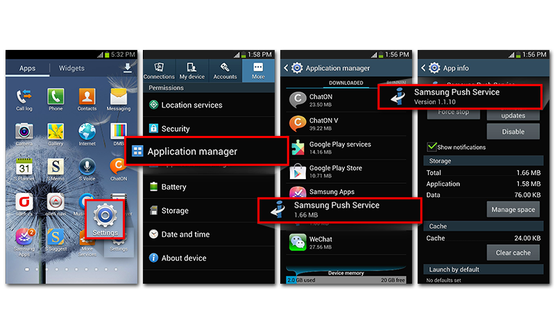 Samsung Push Service - screenshot
