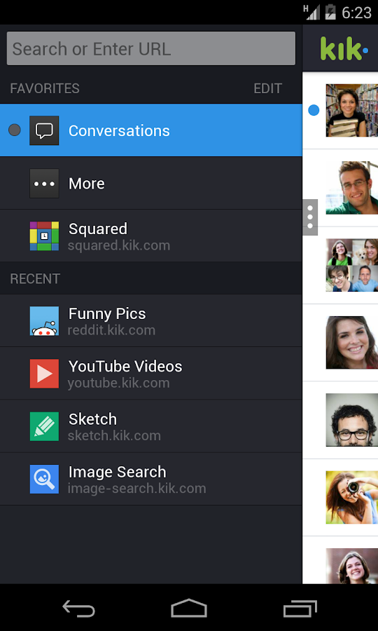 Kik Messenger - screenshot