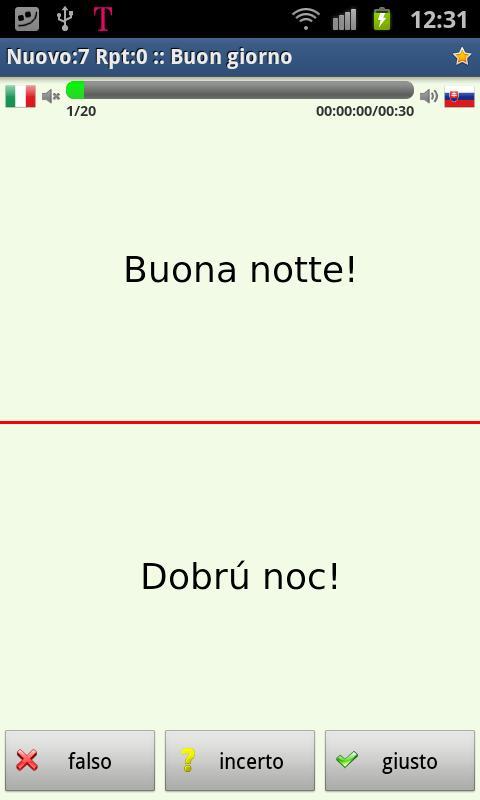 Imparare lo slovacco- screenshot
