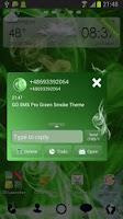 Screenshot of GO SMS Pro Green Smoke Theme