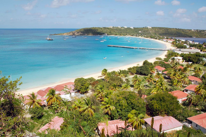 Sandy Ground Harbor on Anguilla features a luxurious stretch of white sand.