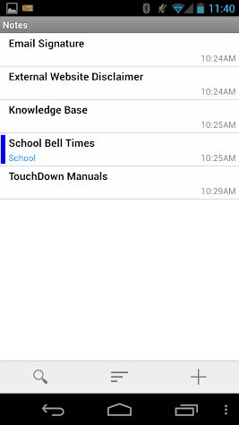 TouchDown for Smartphones Screenshot
