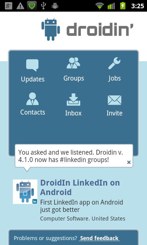 Droidin - screenshot