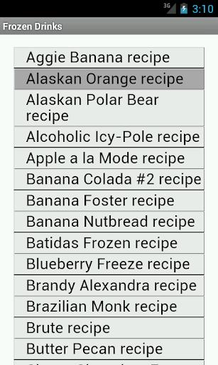 250 Frozen Drink Recipes