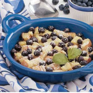 Blueberry Bread Pudding.