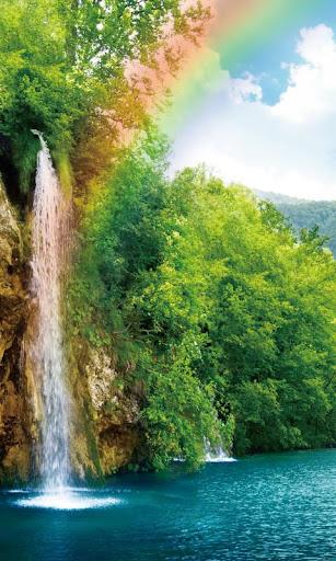 waterdrop rainbow nature