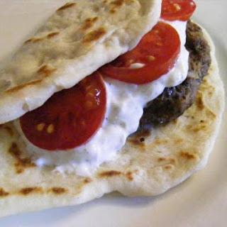 Griekse burger (Suzuki), dip en wrap