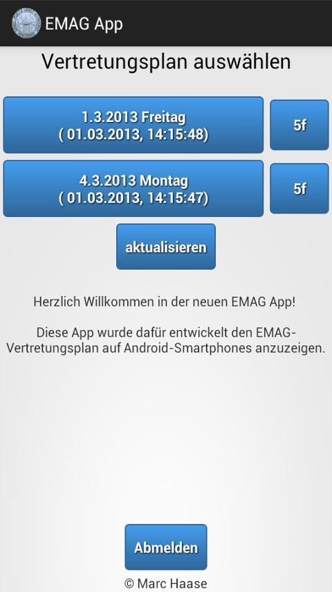 EMAG App (IServ)- screenshot
