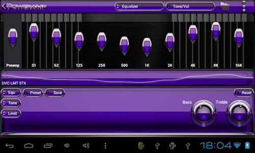 Poweramp skin Purple Glas luxe v1.33