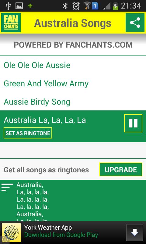 Australia Football Ringtones - screenshot