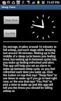 Screenshot of Sleep Time