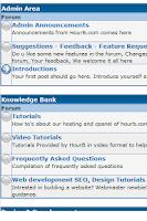 Screenshot of HourB Hosting