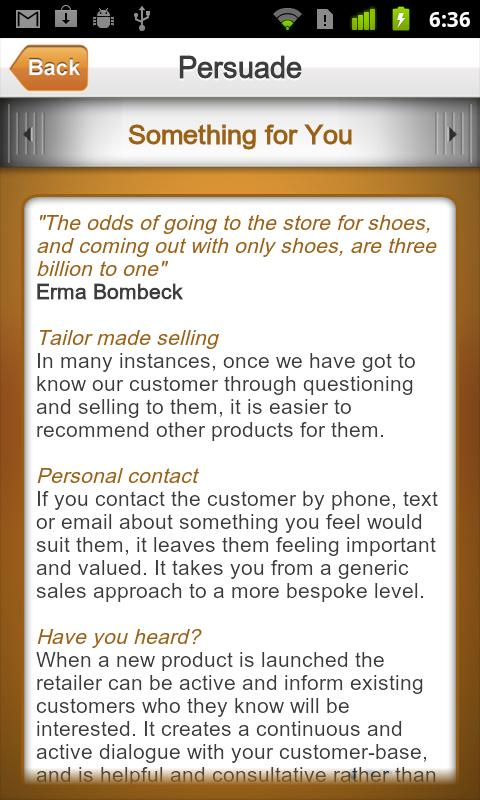 iSell: Your retail sales guide - screenshot