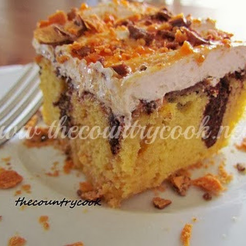 Butterfinger Angel Food Cake