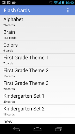 Flashcards Application