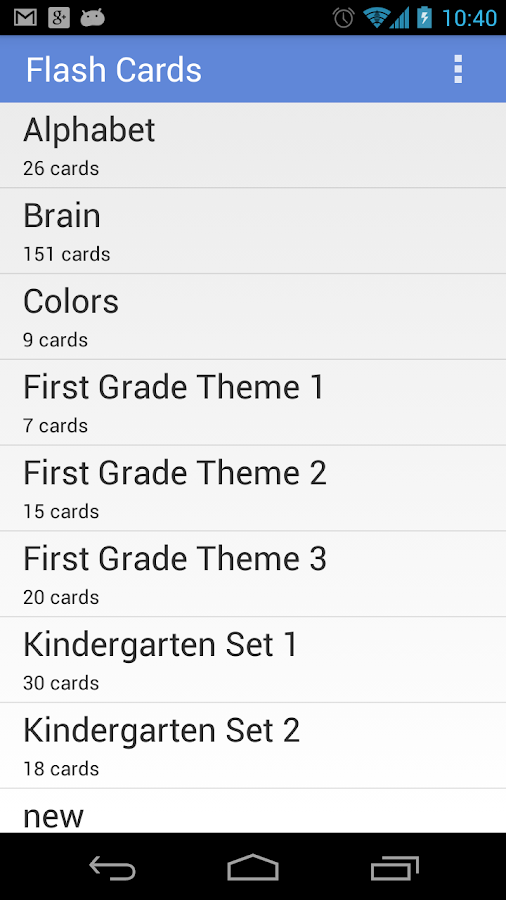 Flashcards Application - screenshot