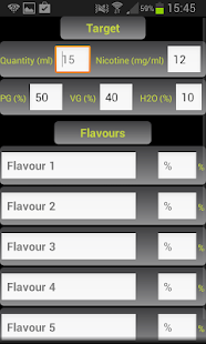 E-Liquid Calculator NOADS - screenshot thumbnail