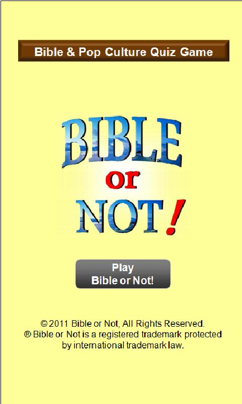Bible or Not® Bible Quiz Game- screenshot