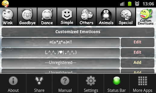 My Emoticons- screenshot thumbnail