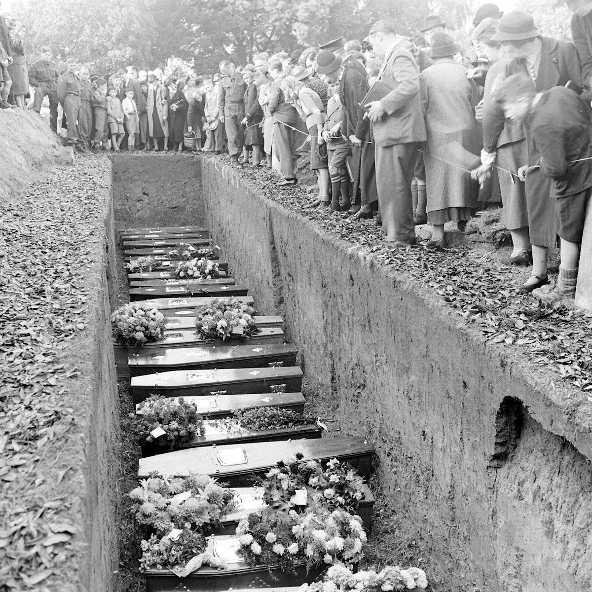 Bombed School: Childrens Funeral