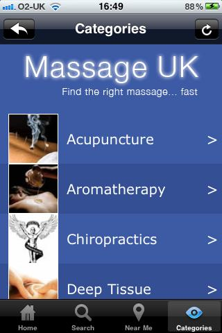 MassageUK - screenshot