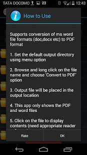 玩免費商業APP|下載Word to PDF Converter app不用錢|硬是要APP