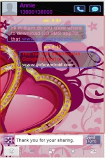 Valentine's Day 2013 GO SMS - screenshot thumbnail