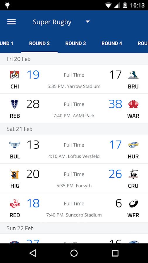 Rugby Live- screenshot