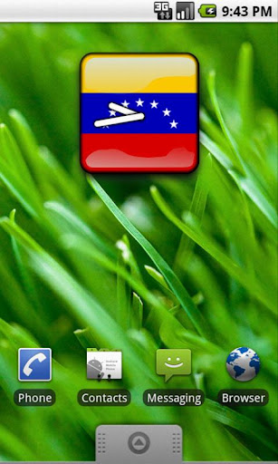 Venezuela Flag Clock Widget