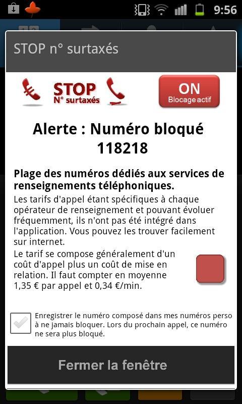Stop Numéros Surtaxés- screenshot