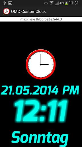 Custom Clock Widget Lite OMD