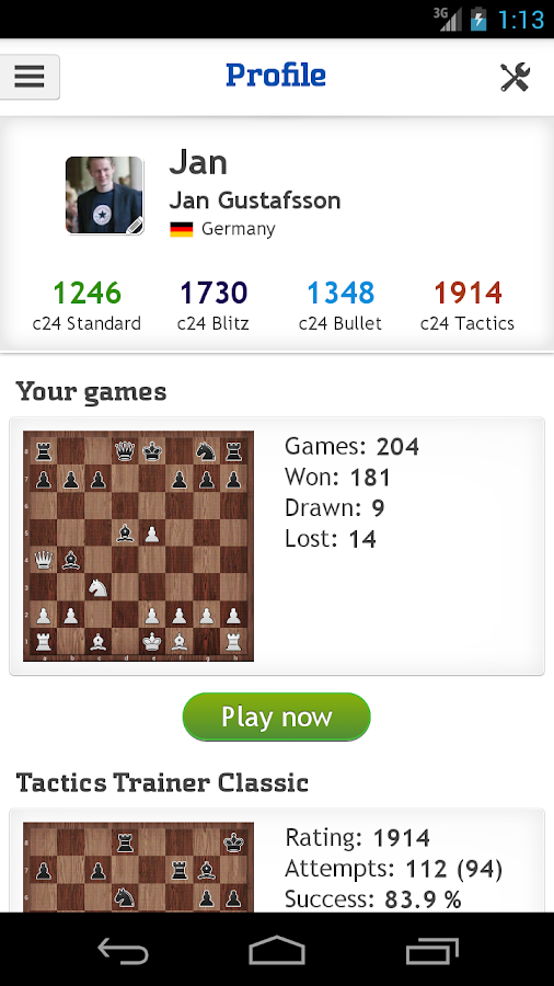 Chess - play, train & watch- screenshot