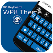 GO Keyboard WP8 Blue Black