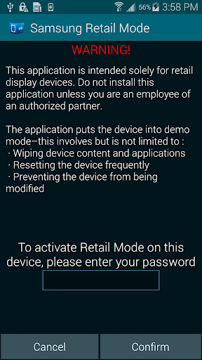 SAMSUNG RETAIL MODE LITE