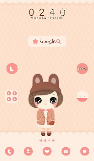 玩個人化App|귀요미꼬망(가을) 도돌런처 테마免費|APP試玩