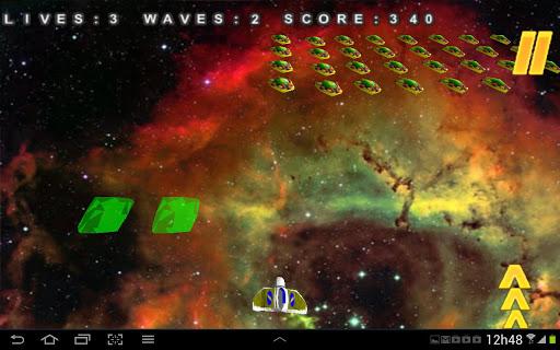 スペースゲームの3Dメガインベーダー
