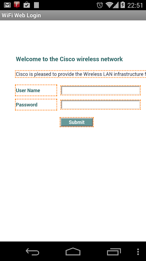 WiFi Web Login - screenshot