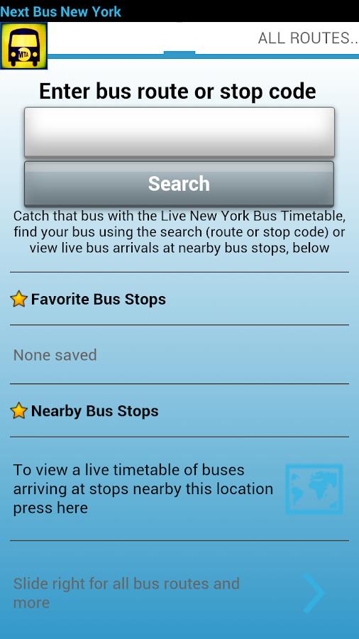 Next Bus New York - screenshot