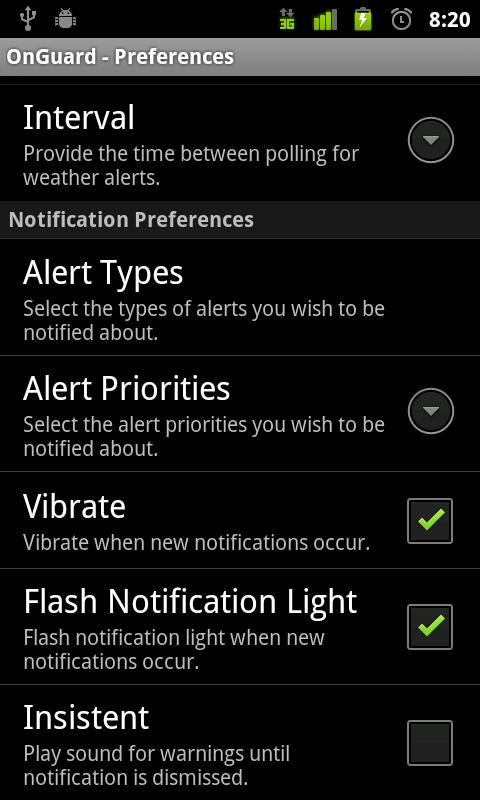 Onguard Weather Alerts- screenshot