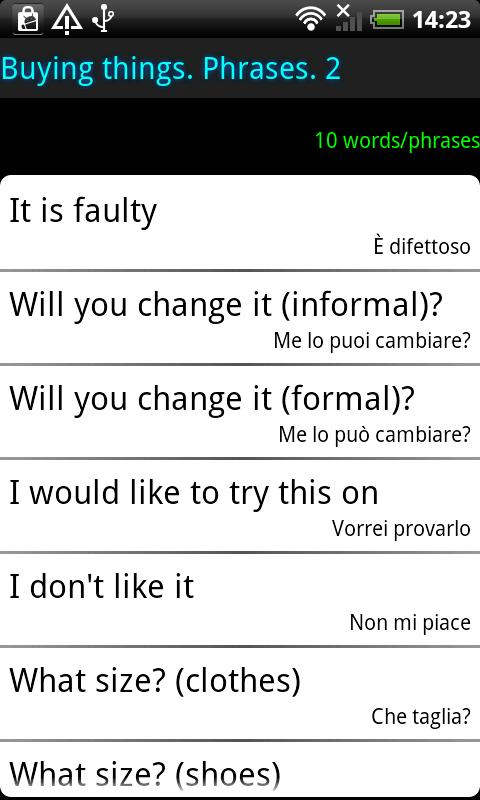 Surface Languages Italian - screenshot