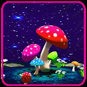 3D Mushroom Dark Wallpaper